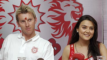 Brett Lee and Preity Zinta