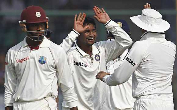 Pragyan Ojha, India's left-arm spinner
