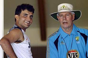 Saurav Ganguly and Greg Chappell