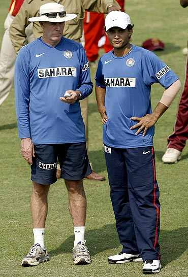 Greg Chappell and Sourav Ganguly