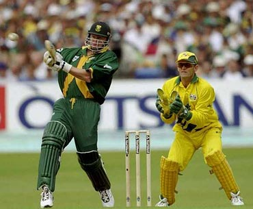 Lance Klusener in action at the 1999 World Cup
