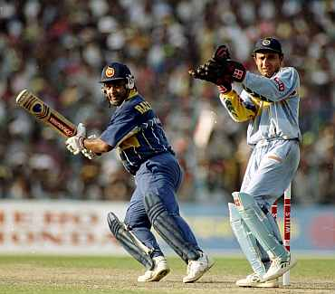 Arjun Ranatunga plays a shot