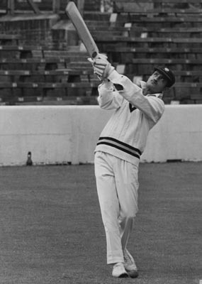 India captain Ajit Wadekar bats at the Oval, in London, on June 21, 1971