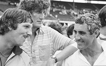 Ian Botham, Bob Willis and Mike Brearley