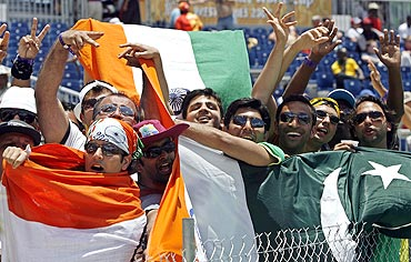 Cricket fans display their loyalties