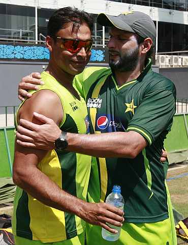 Shoaib Akhtar and Shahid Afridi