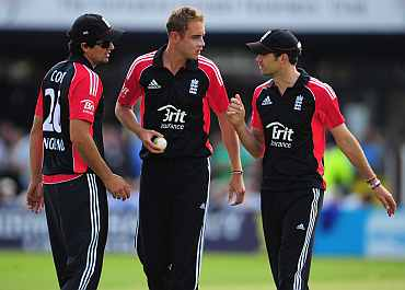 James Anderson, Alastair Cook and Stuart Broad