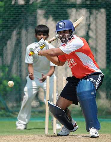 Ravi Bopara during a practice session in Hyderabad