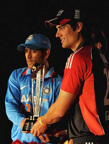 Alastair Cook and MS Dhoni
