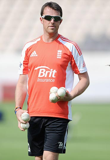 Greame Swann during a nets session