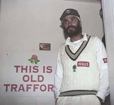 Navjot Singh Sidhu at Old Trafford