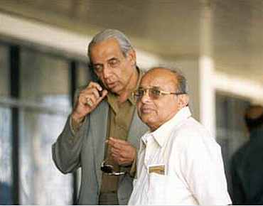 Raj Singh Dungarpur and Jaywant Lele