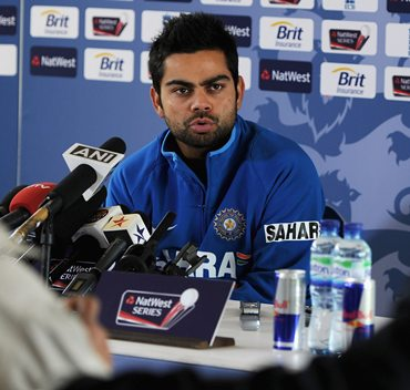 Virat Kohli addresses the media on Friday, ahead of the first ODI against England