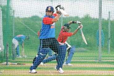Tendulkar bats in the nets on Friday
