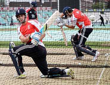 Craig Kieswetter during a nets session at The Kia Oval