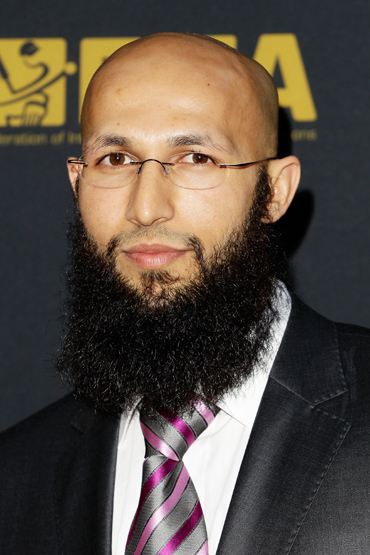 Hashim Amla of South Africa arrives for the LG ICC Awards at The Grosvenor House Hotel on September 12, 2011 in London