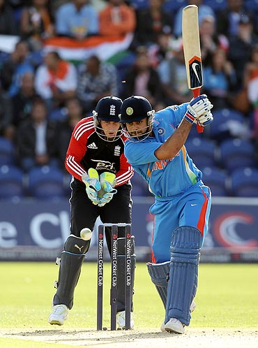 Virat Kohli in action against England