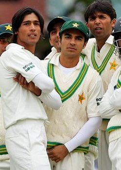 Amir, Salman Butt and Mohd Asif