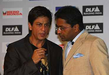 Lalit Modi and Shah Rukh Khan