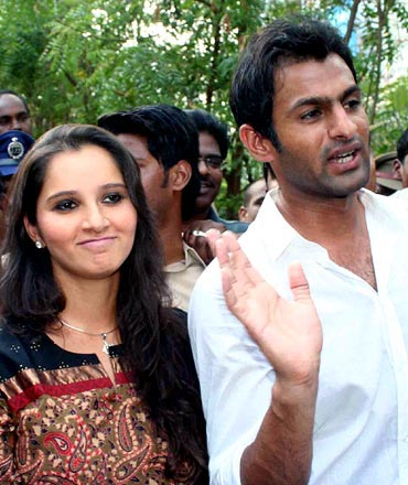 Shoaib Malik with Sania Mirza