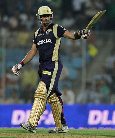 Owais Shah in KKR colours