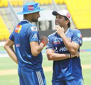 Harbhajan Singh and Tendulkar