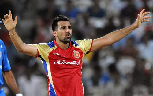 RCB expects Zaheer to put up an impressive show