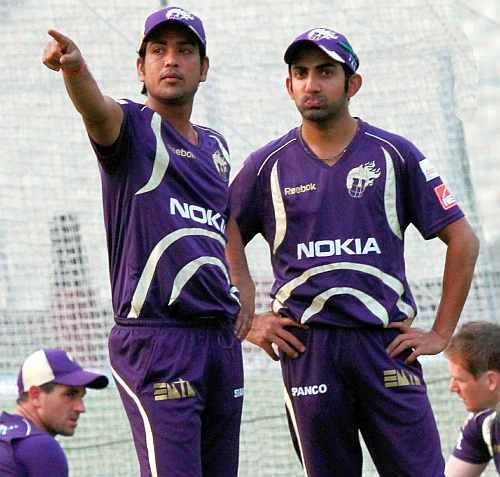 Gautam Gambhir with teammate Lakshmi Ratan Shukla