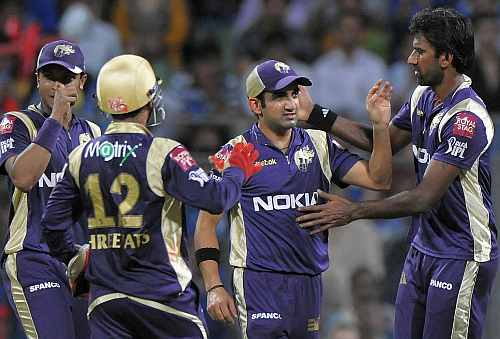 Gautam Gambhir with L Balaji