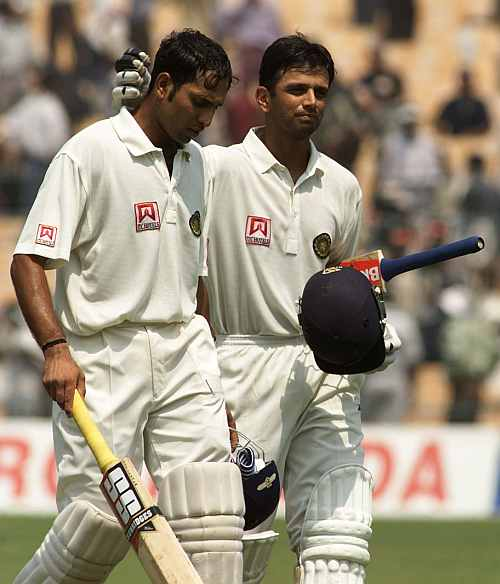 VVS Laxman with Rahul Dravid