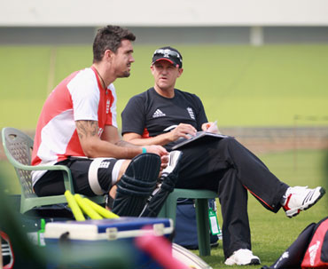 Kevin Pietersen and Andy Flower