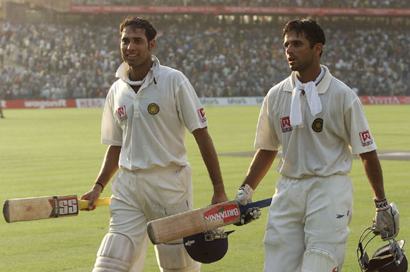 VVS Laxman with Rahul Dravid