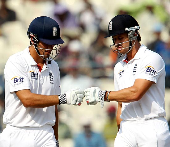England openers Alastair Cook and Nick Compton