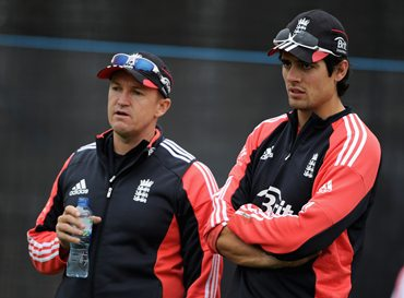 Alistair Cook and Andy Flower