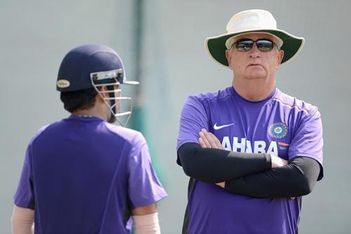 India coach Duncan Fletcher with Gautam Gambhir