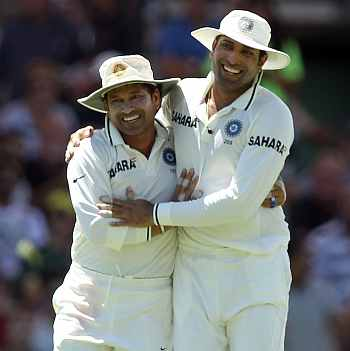 Sachin Tendulkar and V V S Laxman