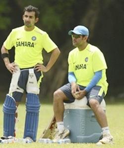 Gambhir and Dhoni