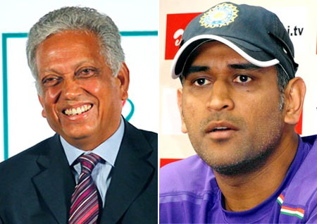 Mohinder Amarnath and MS Dhoni