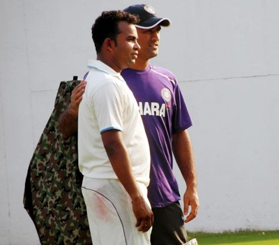 Gurudas Raut with M S Dhoni