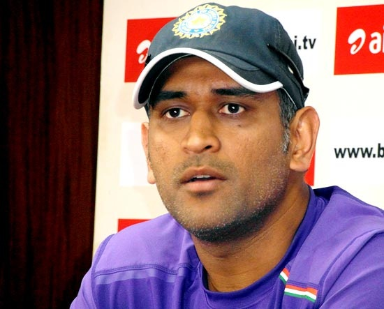 M S Dhoni addresses the media in Nagpur on Wednesday