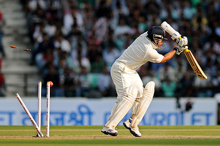 Sachin Tendulkar is bowled out by James Anderson on Friday