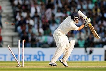 Tendulkar bowled by Anderson