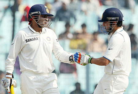 Virender Sehwag with Gautam Gambhir