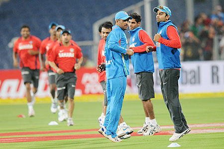 Indian team at a training session