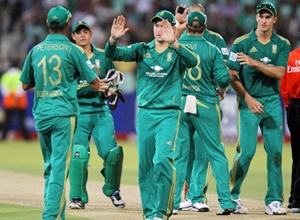 South Africa players celebrate