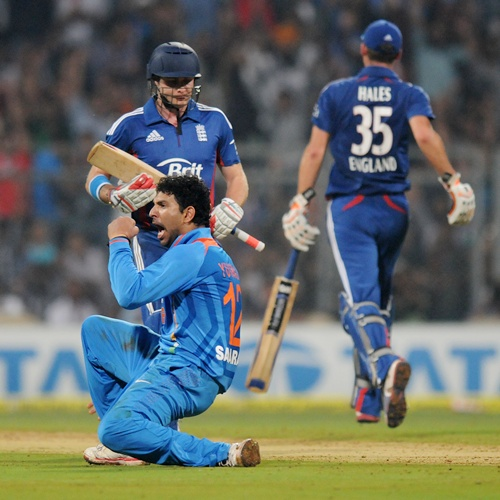 Yuvraj was the lone bowler to succeed
