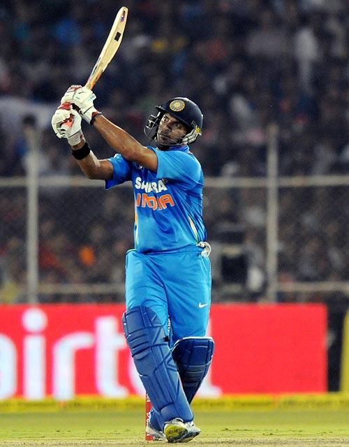 Yuvraj Singh smashes a six