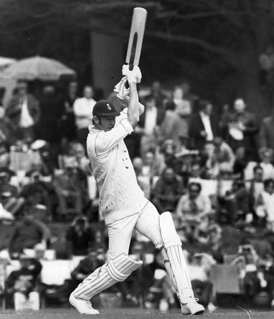 Tony Greig in action for the Duke of Norfolk's XI on April 24, 1972