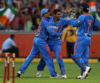 Ravindra Jadeja celebrates after a fall of a wicket