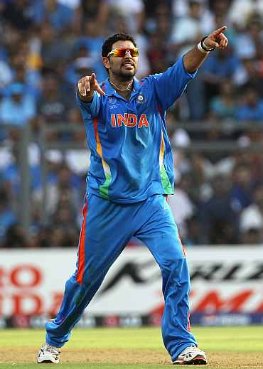 Rediff Cricket - Indian cricket - Get well soon, Yuvi! Wish the ace player a speedy recovery